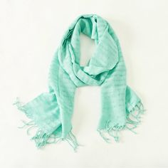 Ethically Made Handwoven Scarf, Soft Mint, Fair Trade by TheFairLine on Etsy