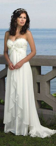sweetheart wedding dress Empire waist dresses look the best on any shape in my opinion, especially ones with more at the bottom than the top.