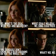 """#Shadowhunters 1x01 """"The Mortal Cup"""" - Clary and Simon"""