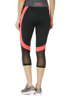 <li><p>Made from quick drying materials with a touch of stretch for comfort, these capris from the F&F Active range are a must-have style for your workouts. The capris feature contrast neon panels at the sides and inside of the waistband with mesh overlays for breathability. The capris also feature a secure zip pocket at the back of the waistband and a small slit on the front for essentials. Style these capris with a co-ordinating t-shirt for a complete look.</p><p>Pull on with an…