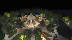 This the design for a local Cambodian Baha'i House of Worship.