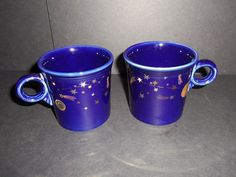Fiesta cobalt Tom and Jerry mugs--Museum of Natural History