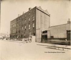 Buckingham St Upper, near the junction with Summerhill. Dublin Street, Dublin City, Old Pictures, Old Photos, Irish Independence, Dublin House, Photo Engraving, Dublin Ireland, Houses