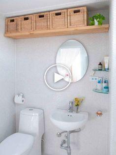 78 Brilliant Small Bathroom Storage Organization Ideas – Home Decor Cheats Zen Bathroom, Bathroom Toilets, Simple Bathroom, Bathroom Interior, Bathroom Ideas, Master Bathroom, Small Bathroom Redo, Tiny Bathrooms, Bathroom Inspo