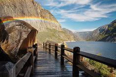 Hetch Hetchy reservoir in Yosemite