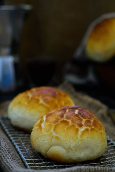Dutch Crunch Bread or Tigerbrood, Soft and chewy bread inside covered with a crunchy layer which looks like Tiger's skin. Here is how to make it at home. #Bread #Baking #FromScratch #Food #Photography #Styling