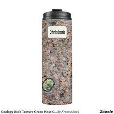 Geology Rock Texture Green Moss Custom Name Thermal Tumbler
