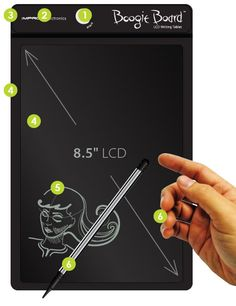 """It's the grown up version of that board we all used when we were kids.  Remember?  You'd write on it with the red plastic """"pen"""" and when you were done, you'd pull up the sheet of plastic to """"erase"""" it.  This is SO much better than that!"""