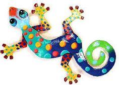 colorful lizard art - Google Search