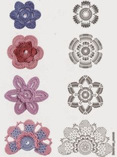 ❤ ♥  Crochê - Flores -  /  ❤ ♥  Crochet - Flowers  -