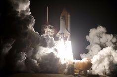 Space Shuttle Discovery launches August 31, 2009 on STS-128 mission, the 30th International Space Station assembly flight and the 128th space shuttle flight.  NASA Image 135751.