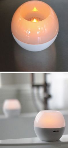 Wireless Speaker with candlelight LED - perfect for baths