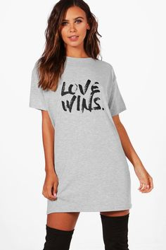 458e236769e68 Charity Petite 'Love Wins' Dress. Boohoo Dresses ...