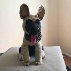 German Shepherd dog crochet pattern PDF. by Ambercraftstore