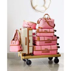 • One Hour Sale • Bric's Pink Luggage No wear. Few black marks which I am sure can be removed. Good size. Bric's Bags Travel Bags