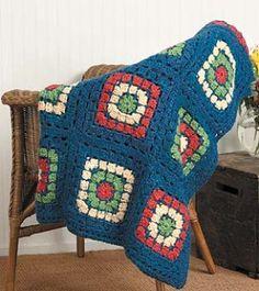 Great Lengths Afghan, free pattern from Lion Brand  . . . .   ღTrish W ~ http://www.pinterest.com/trishw/  . . . .    #crochet #blanket #throw