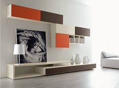 Mueble modular de pared composable montaje pared lacado CITYLIFE 43 Colección Citylife by Doimo CityLine