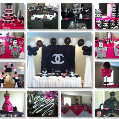 Chanel Theme Baby Shower                                                                                                                                                                                 More