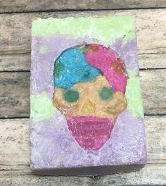 Day of the Dead Soap, Sugar Skull Soap, Halloween Soap, Cruelty Free Soap, Glow in the Dark Soap, Vegan Soap, Limited Edition Soap 3.25 oz