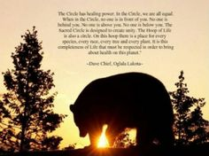 THE NATIVE AMERICAN CIRCLE AND THE MEANING | The circle