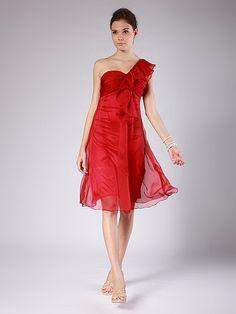 Draped Sheer-Chiffon Bridesmaid Dress