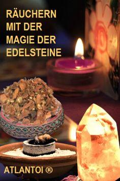 Schon in Atlantis wusste man um die Magie der Edelsteine und um die heilbringende, spirituelle Wirkung von Räucherungen. Nach hermetisch-magischen und astrologischen Kriterien werden die Schwingungen und Informationen der Edelsteine mit edlen Räucherzutaten verbunden, so dass sie gemeinsam ihre optimale Energie entfalten können. #Räucherung, #Edelsteinenergien, #Edelsteine, #Magie, #Astrologie, #Spiritualität, #räuchern Atlantis, Birthday Candles, Astrology, Spiritual, Knowledge