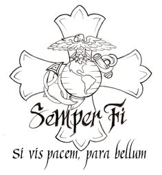 Marine Corps Cross Tattoo by ~Metacharis on deviantART