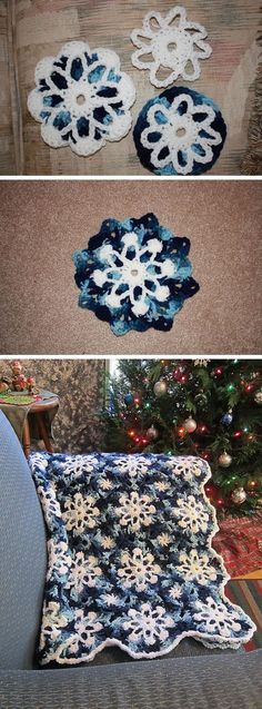 Gorgeous Dusty Snowflakes Throw - Free Crochet Pattern ❥Teresa Restegui http://www.pinterest.com/teretegui/❥