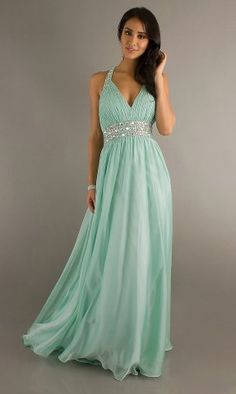 Cheap Long Aqua Open Back Sparkly Prom Dresses
