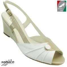 Zodiaco női bőr szandál 9060 bézs/fehér