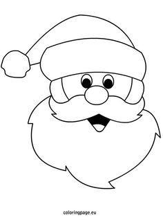 7 Best Images of Santa Claus Face Template Printable - Santa Face Template Printable, Santa Beard Countdown to Christmas Craft and Blank Santa Face Clip Art Christmas Text, Christmas Drawing, Christmas Colors, Santa Christmas, Santa Clus, Santa Coloring Pages, Christmas Coloring Pages, Coloring Books, Christmas Templates