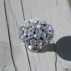 Gorgeous Round Crystal Drawer Knob with Clear Glass by DaRosa, $10.50