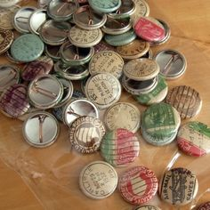 Vintage Postmark and Postage Stamp Buttons  donovanbeeson