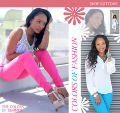 Pink and blue pants 15% off no code needed.  www.danigclothig.com