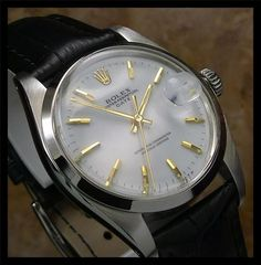 AUTHENTIC VINTAGE MENS SWISS ROLEX OYSTER PERPETUAL DATE 1500, c.1970s