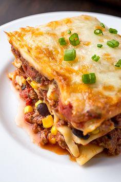 Mexican Lasagna   thecozyapron.com