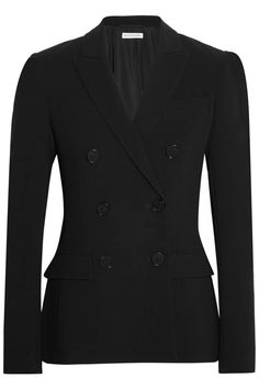 Black crepe  Button fastenings through double-breasted front  69% triacetate, 31% polyester; lining: 100% polyester Dry clean Made in Italy