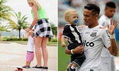 Filho de Neymar anda de skate com a mãe - Parece que o filho de Neymar não é muito fã de uma bola. O pequeno Davi Lucca (1) gosta mesmo é de andar de skate