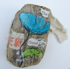 The good life. Driftwood art with findings by Boukje Heddema