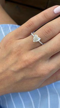 Heart Shaped Diamond Ring, Heart Shaped Engagement Rings, Round Cut Diamond Rings, Cushion Cut Diamond Ring, Halo Diamond Engagement Ring, Engagement Inspiration, Wedding Inspiration, Buy Rings, White Gold Rings