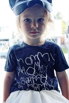 """would love to do something like this with bleach pen but for parents. Like, """"best daddy"""" for fathers day present."""