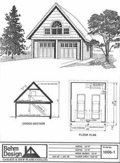 Behm Design Garage Plan No. 1006-1