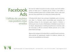 Anúncios e ações de branding no Facebook.