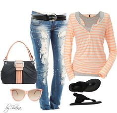 A fashion look from February 2013 featuring red top, ripped skinny jeans and yoga shoes. Browse and shop related looks. Fashion Moda, Diva Fashion, Look Fashion, Fashion Outfits, Womens Fashion, Cheap Fashion, Fashion Ideas, Spring Summer Fashion, Winter Fashion