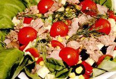 Reţetă: Salată de ton cu porumb şi avocado   Restaurante de Lux Cobb Salad, Avocado, Food, Restaurant, Lawyer, Essen, Meals, Yemek, Eten