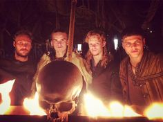 Ragnar & Aslaug's sons (from l to r): Ubbe, Hvitserk, Sigurd, and Ivar