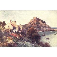 Channel Islands 1911 Mt Orgueil Castle Jersey Canvas Art - Henry Bowser Wimbush (18 x 24)