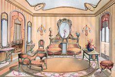 Art Nouveau (Jugendstil) Furniture and interiors