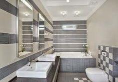 Baño moderno gris blanco