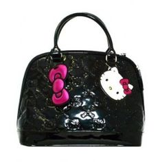 e35807f85 Hello Kitty Black Patent Embossed Regular Size Tote Bag Purse on Wanelo